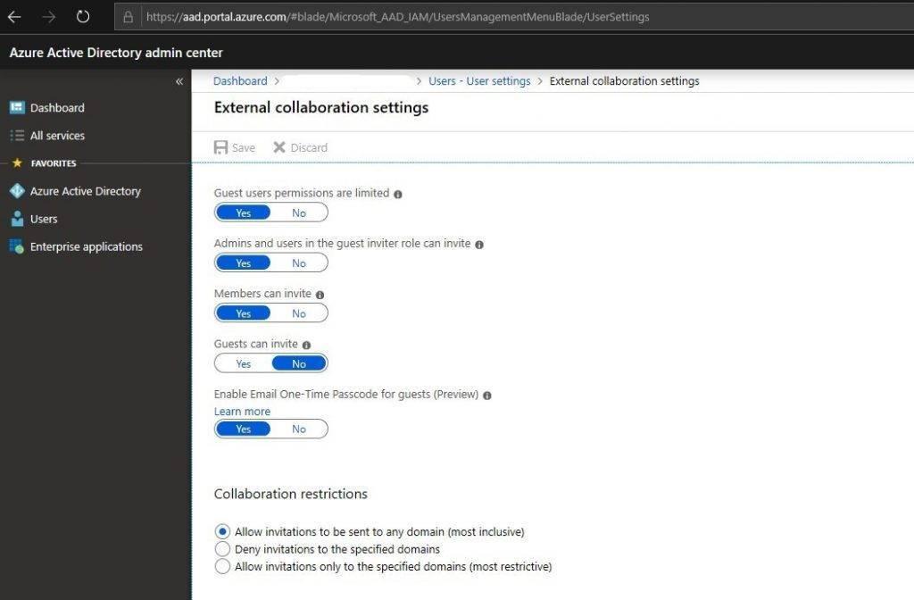 Ustawienia zewnętrznego udostępniania Teams Microsoft